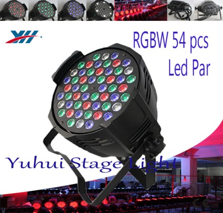 110V 220V DMX Par Led 54x3W RGBW American Dj Lighting Stage Light Concert Lighting