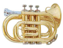 Colorful Musical Instruments Bb Key Pocket Trumpet ABC1406/1406N/1406RD/1406BL/1406PU