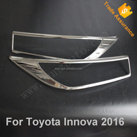 New 2016 Innova ABS plastic chrome film headlight cover For Toyota Innova 2015 head lamp cover chromed Trim accessories