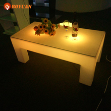 romote control plastic led rotating dining tables