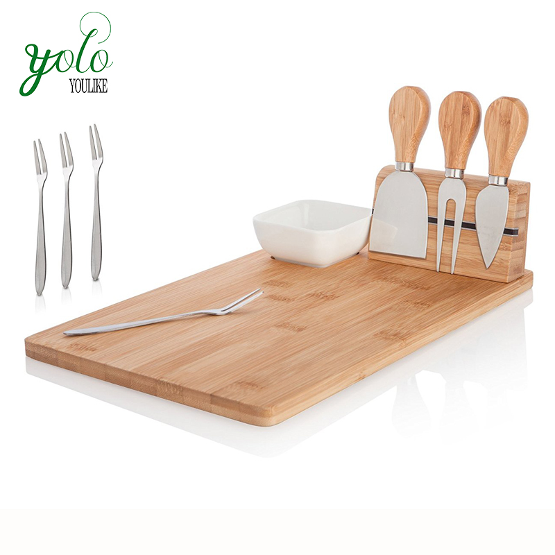 Large Wooden Kitchen Bamboo Serving Cheese Cutting Board