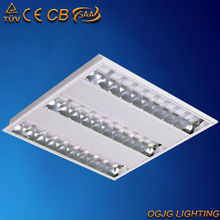 TUV-CE t5 fluorescent grille ceiling light fixture grille square recessed light cover