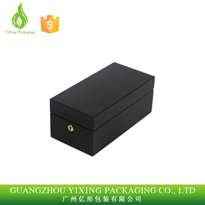 Luxury Custom Wooden Metal Lock Gift Wine Packaging Box Wine Packing Box
