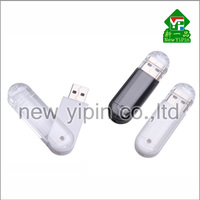 New Yipin Factory Prices Memory Stick Full Capacity 8GB Transparent Swivel USB