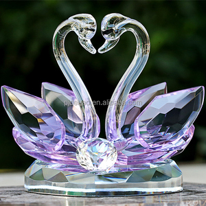 Factory Price K9 High Quality Crystal Swan Gifts Wedding Souvenirs