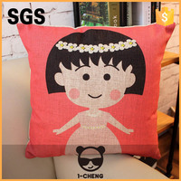 Japanese Design Sakura Momoko Pattern Pillow Case Home Sofa Decorative Cushion
