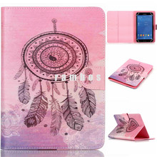 PU Leather Custom Printed Tablet Flip Cover Case Hard Plastic Back 8 inch Tablets PC Cases for Samsung galaxy Tab