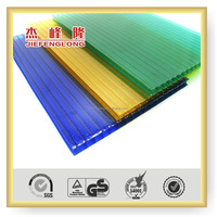 Polycarbonate Roofing Sheet Twin Wall Translucent Green and Sapphire Blue Sheet