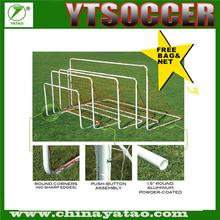 Alibaba China Foldable aluminum soccer goal with 1.5m runback-complete set with hooks and nets