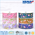 Gift packaging flower printed decoration dolly ribbon