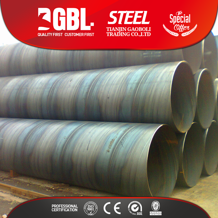 1620mm big diameter spiral steel tube used for oil and natural gas transmission pipeline