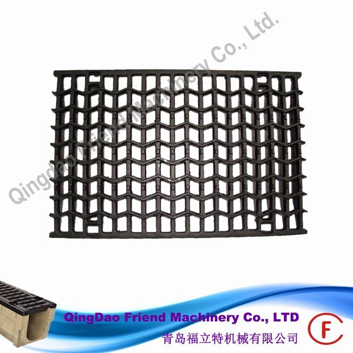 FM-G-11A646 cast iron kerb gully gratings metal gratings over gutters metal kerb drainage