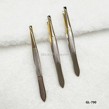 Lady Stainless Steel Make Up Eyebrow Removal Tweezers