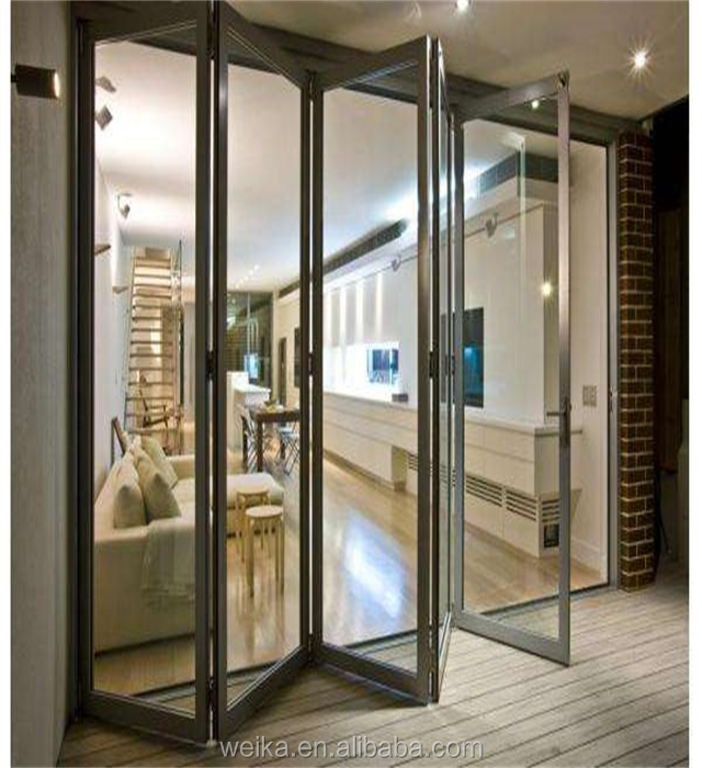 Latest design aluminium folding doors made by China supplier