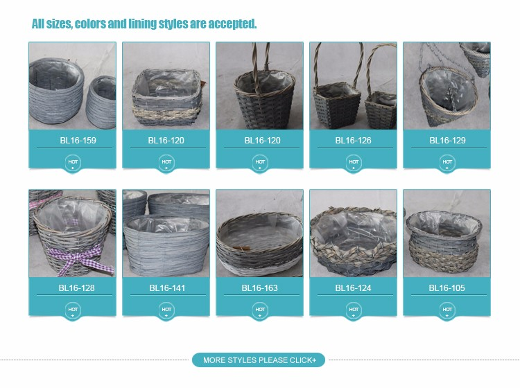 Handmade Wicker pots for gardening