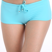 Blue high waist bikini panties for mature women