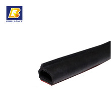 Factory Supply oem extruded auto d shaped rubber seal,condcutive elastomer strip with 3M Sticker D shape seals