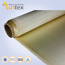 1000C welding protection high silica glass fiber fabric