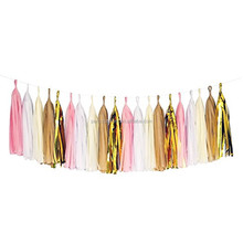 Party,Weddings, Nursery, Bedroom,Store,Photography Decorations Customizable Mini Tissue Paper Tassel Garland