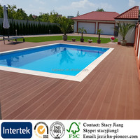 Eco Friendly Wood Plastic Composite Decking Exterior Waterproof Anti UV WPC Composite Panel