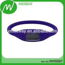 Advertising gifts silicone cheap free pedometer 2014
