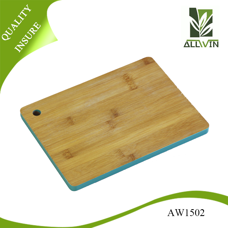Big Rectangle Bamboo Cutting Board with painting edges