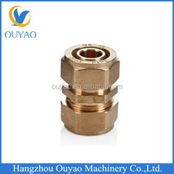 Factory Direct, PEX AL PEX Composite tube, Brass Fitting Double ferrule Equal union