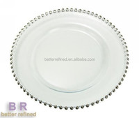 lead free crystal glass charger plates wholesale/crystal under plate