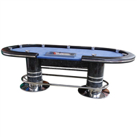 10 Seat Poker Table With Stainless