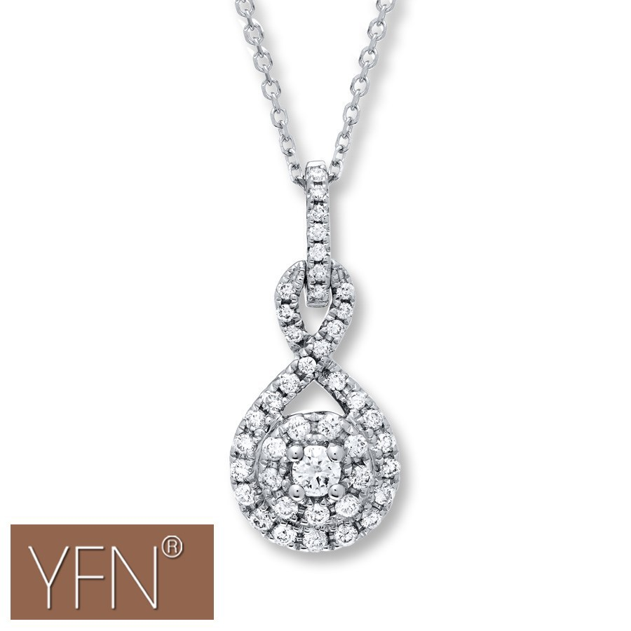 Brand Name YFN Cubic Zirconia Cluster Necklace