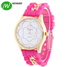 Fashion Beautiful Girls Silicone Quartz Hand Watches