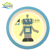 baby kids dinner plates bamboo fiber material customization available