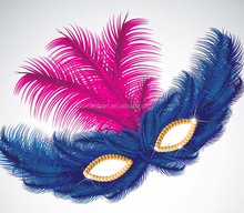 hot sale feather mask