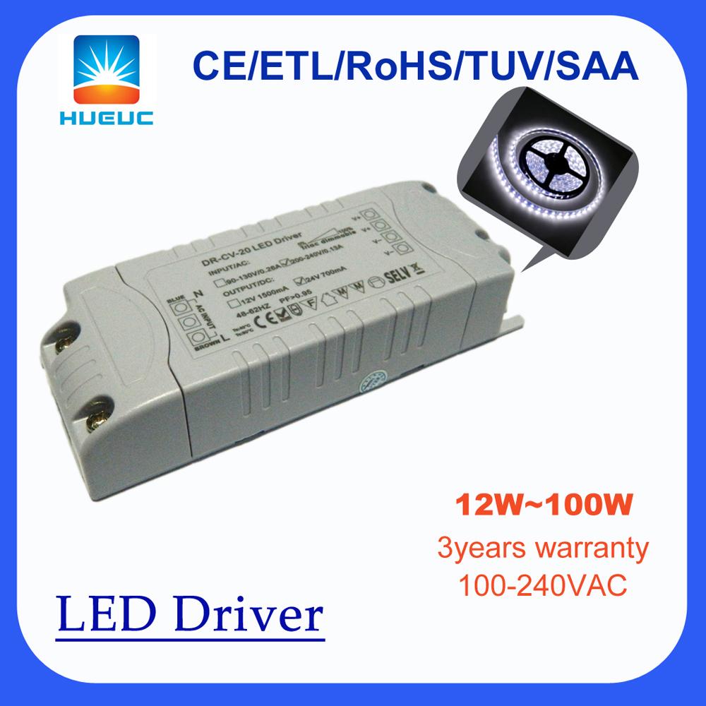 classic designed 60w constant voltage triac dimmable led driver