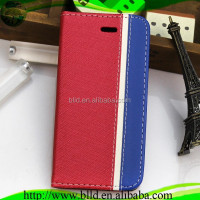 Alibaba China Factory Assorted Colors Design Leather Wallet Case For Iphone 5G 5S