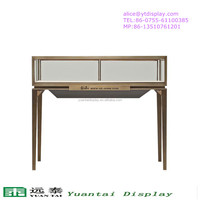 pop-up metal material glass shop counter design used jewelry showcases