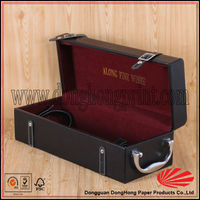 High Class good quality faux leather wine carrier for one wine bottle on sale