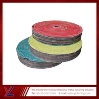 China factory price cotton buffing wheel with mirror finishing compound