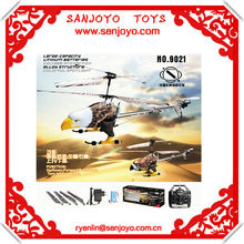 9021 3CH alloy structure helicopter rc w / Hawk canopy