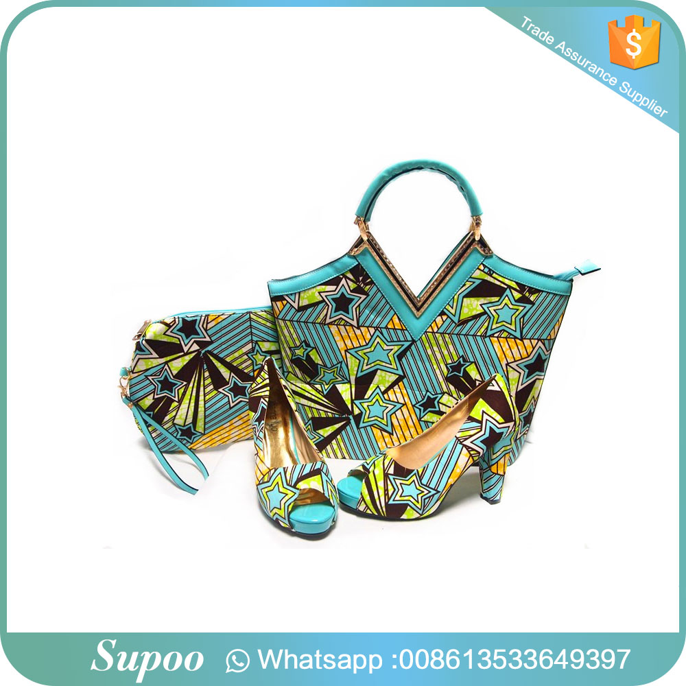 High quality party wear high <strong>heels</strong> green pattern decoration handbag and shoes girls high <strong>heel</strong> sandals