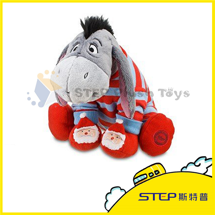 Silly Donkey with Two Cute Christmas Old Man Christmas Plush Toy Nice Christmas Gift