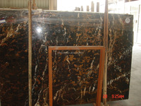 Imported and China black and gold flower marble flooring tiles