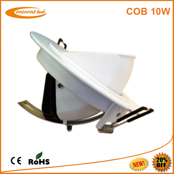 AC85-265v,cutout 100,110mm,CRI80,white housing,gimbal 800-850lm dimmable cob round led downlight 10w