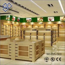 AL-SM049 wooden supermarket display shelves Fashionable Wooden fruits and vegetable display