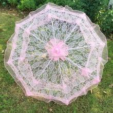 Wholesale quality fashion outdoor parasol wedding lace umbrella