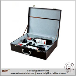 Deluxe Wine Box with Accessories Wine Gift Box Leather Wine Box