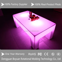 led lighted high rectangle glass top bar tables