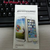 Wholesale Checkout Anti-Scratch High Clear Screen Protector For iPhone 5 With retail package