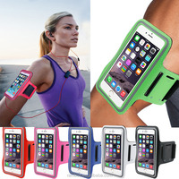 Leather Sport Running Phone Case Belt Wrist Strap Waterproof Arm Band Cover Bag Case for iPhone 6S 6S Plus +