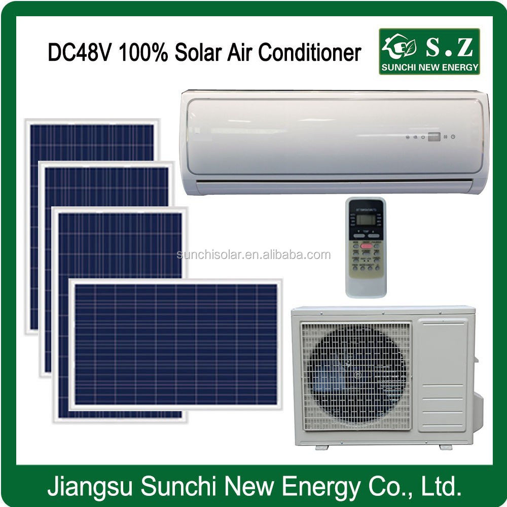 Off grid home using DC48V best solar power wall split free standing air conditioner